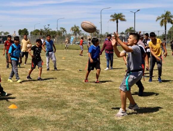Cierre de las actividades de Probá Rugby en el parque Indoamericano