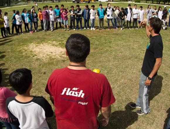Jornada de Probá Rugby en el Parque Sarmiento