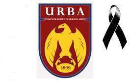 Adhesion de la URBA al duelo nacional