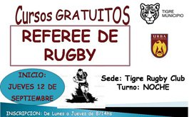 URBA: Curso Gratuito de Referees de Rugby en Tigre