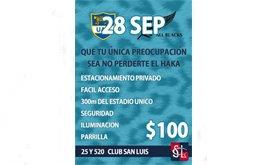 LOS PUMAS vs. ALL BLACKS ESTACIONAMIENTO EN CLUB SAN LUIS