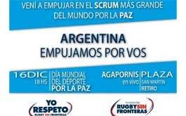 Rugby Sin Fronteras invita a empujar por la paz