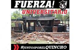 Incendio del quincho de Universitario de La Plata