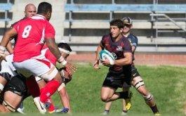 Pampas XV con equipo para jugar con Tonga A