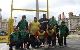 El rugby llego al Obelisco