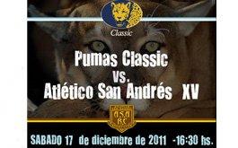 Amistoso de Pumas Classics en Atletico San Andres