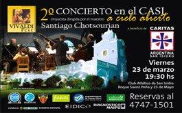 Concierto a beneficio de Caritas San Isidro