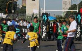 Rugby en el obelisco SUSPENDIDO