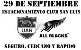 Estacionamiento para Los Pumas vs. All Blacks