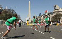 Rugby en el obelisco