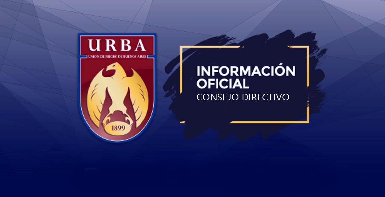 Nota del Consejo Directivo de la URBA a los Presidentes de los Clubes